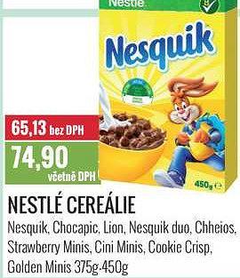 Nestlé cereálie 375-450 Ratio