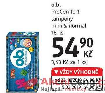 O.b. procomfort normal DM drogerie