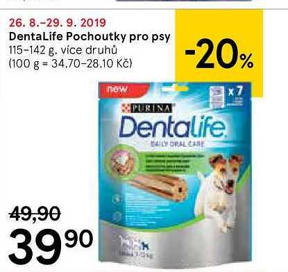 Dentalife pochoutky psy, 115–142 Tesco