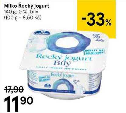Jogurt bílý Tesco