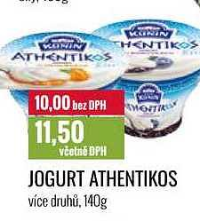Athentikos jogurt Ratio